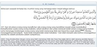 ilmu 31 Surat AtTaubah ayat 107 serta asbab dan tafsir depag RI
