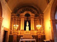 Interior de l'església de Santa Maria de Gaià