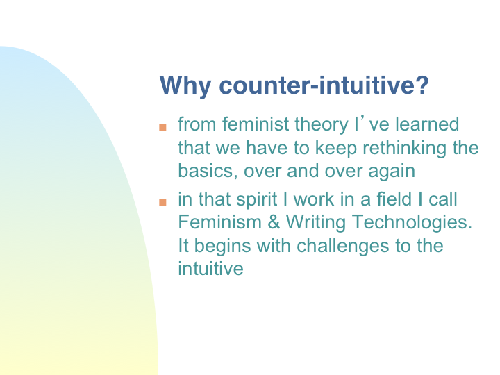 Counter intuitive d finition what is for Couter definition