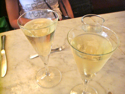 Prosecco at Neptune Oyster, Boston, Mass.