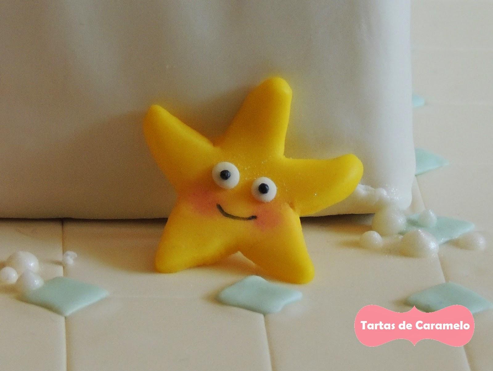 Tarta de cumpleaños: Al baño con mis muñecos! Estrella
