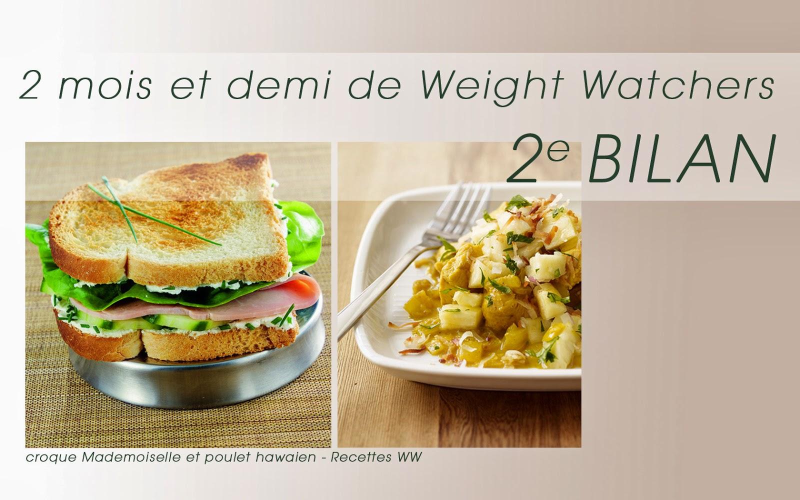 2.5 mois de régime Weight Watchers - Deuxieme Bilan