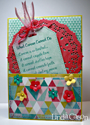 Cancer tag, designer Linda Carson