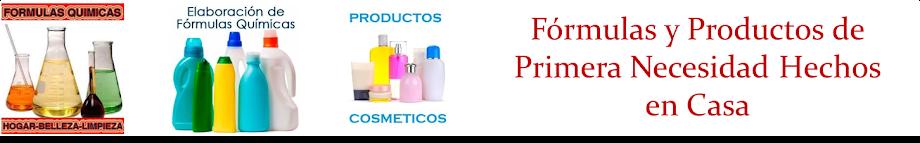 Fórmulas quimicas para elaborar Productos de higiene y limpieza hechos en casa