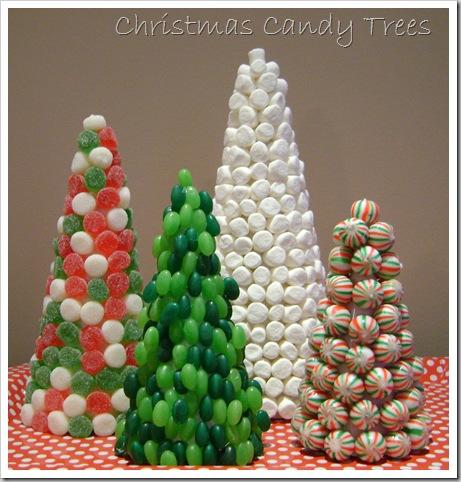 Árvores de Natal feitas com doces passo a passo