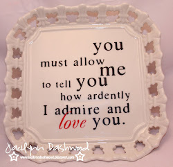 Mr. Darcy quote cake stand