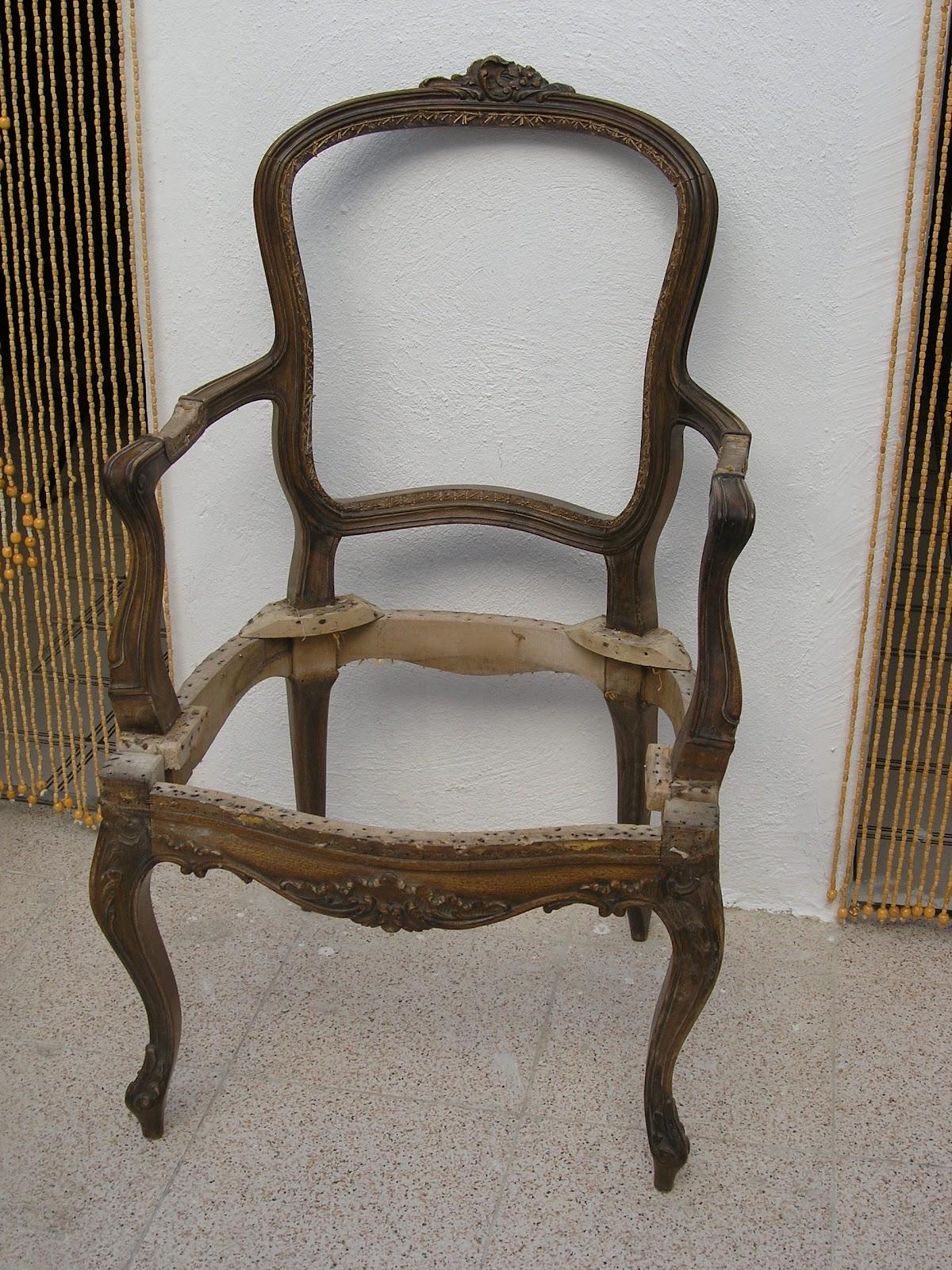 Restauraci n de antiguedades mueble de asiento sillon - Sillones para restaurar ...