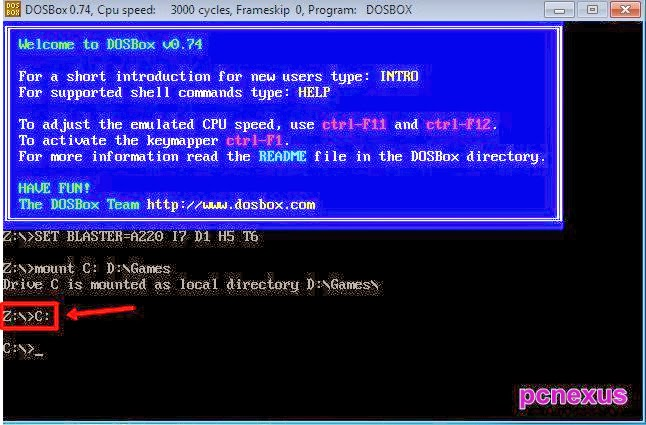 how to use dosbox 0.74