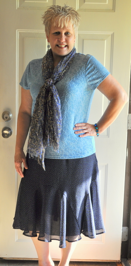 Light blue top, Croft and Barrow - Salvation Army