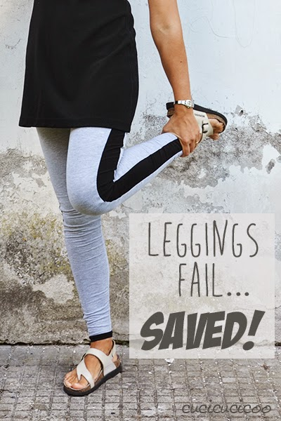 Saving a leggings fail with a... a belt?! Cucicucicoo for Refashion Co-op