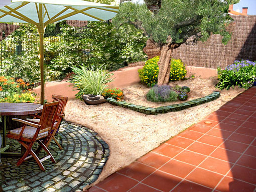 Arte y jardiner a superficies horizontales materiales for Adoquines para jardin