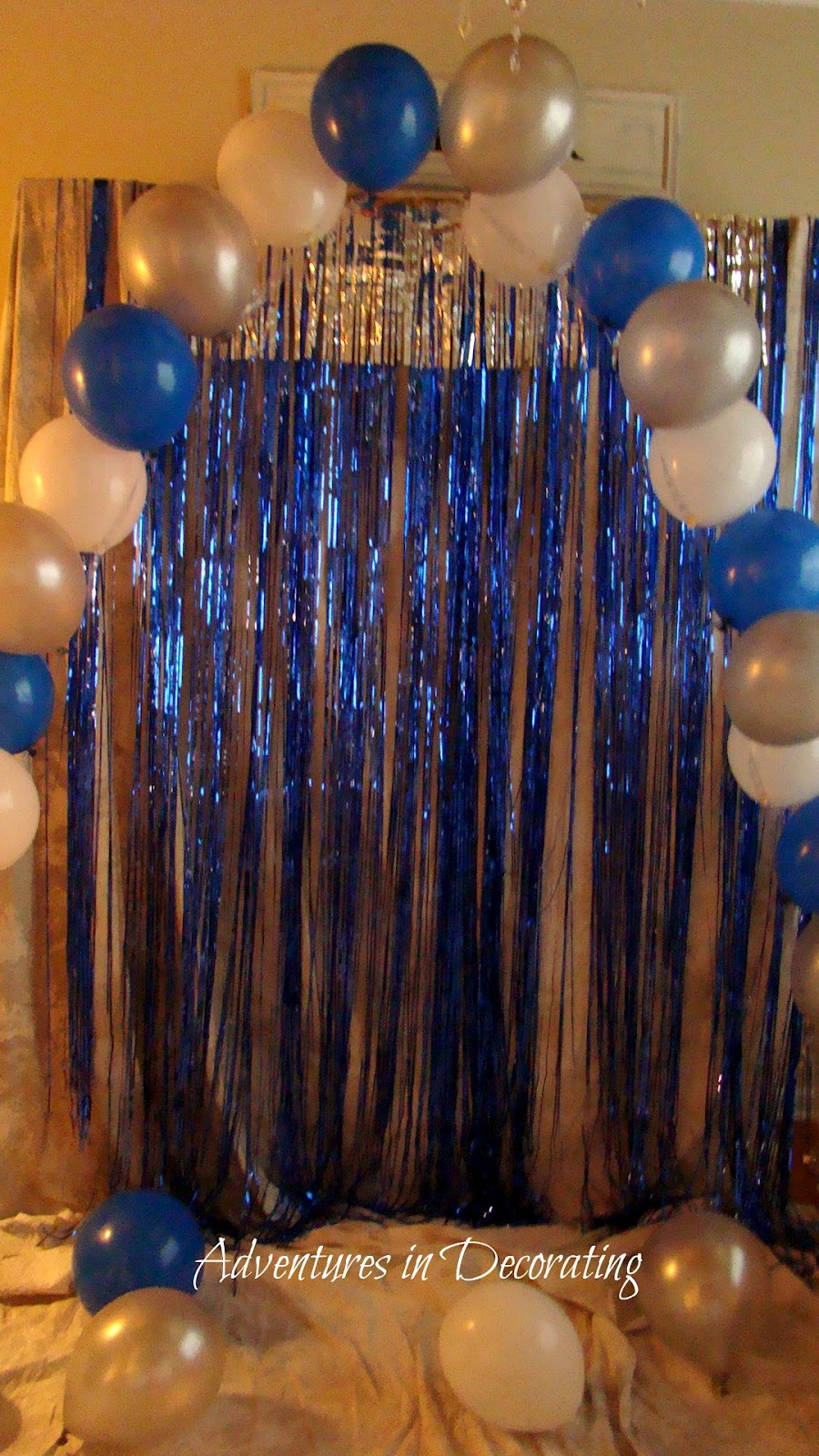 Adventures in decorating into the night for Balloon decoration arches