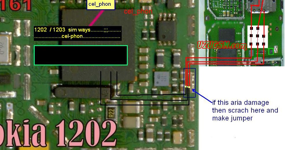 Nokia 1202 1203 Insert Sim Problem Solution Without Ic