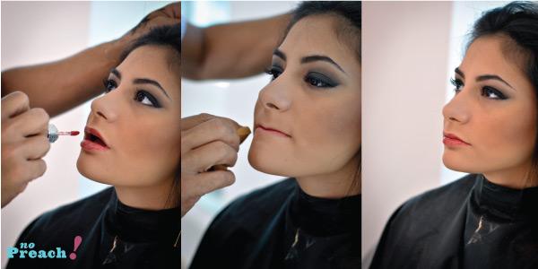 maquiagem, smoke eye preto, batom coral, inverno 2013, salão platinum visage