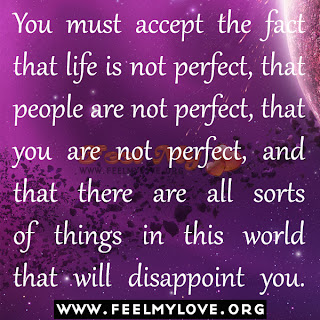 You must accept the fact that life is not perfect