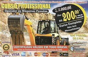 CURSO PROFISSIONAL - OPERADOR DE MÁQUINAS PESADAS