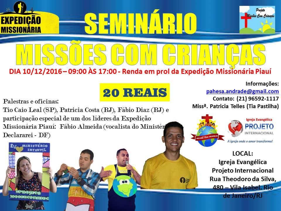 SEMINÁRIO MISSÕES COM CRIANÇAS