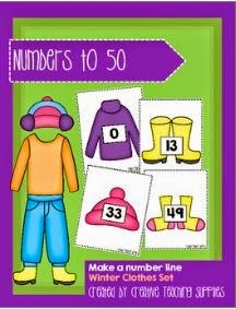 http://www.teacherspayteachers.com/Product/Make-a-Number-Line-Numbers-to-50-Winter-Clothes-Set-1303131