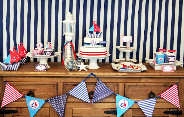 Bird Party's 4th of July nautical party ideas