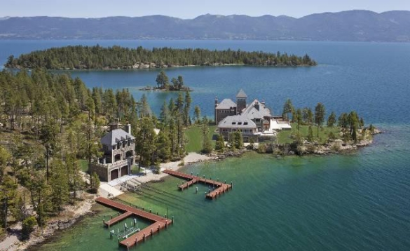 Flathead Lake Island House On The Market For  Million