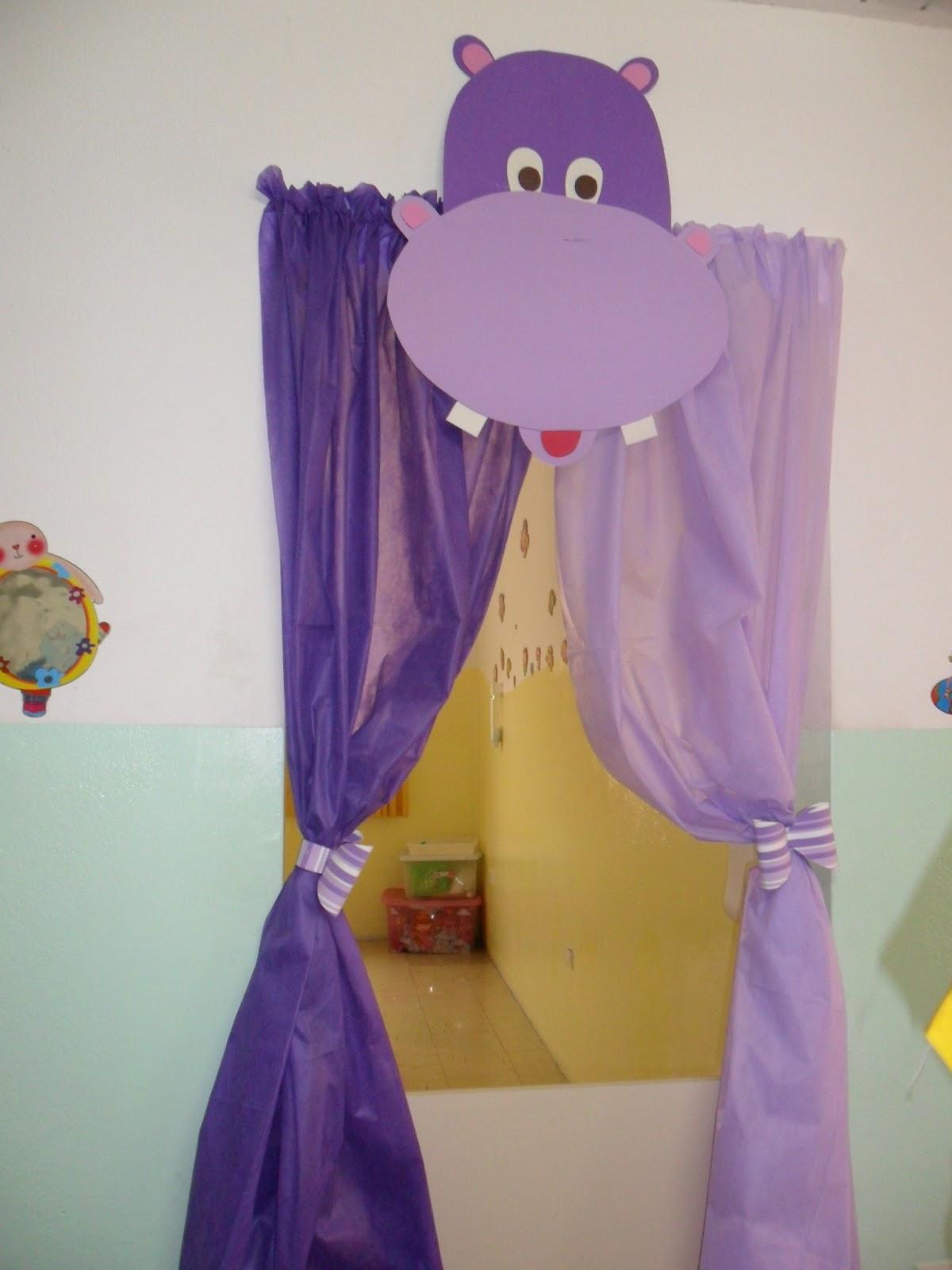 Atividades para educa o infantil cortinas de tnt for Cortinas para aulas