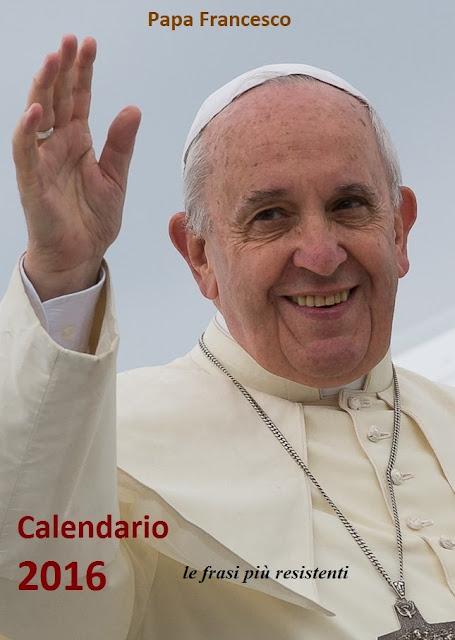 calendario 2016 papa francesco