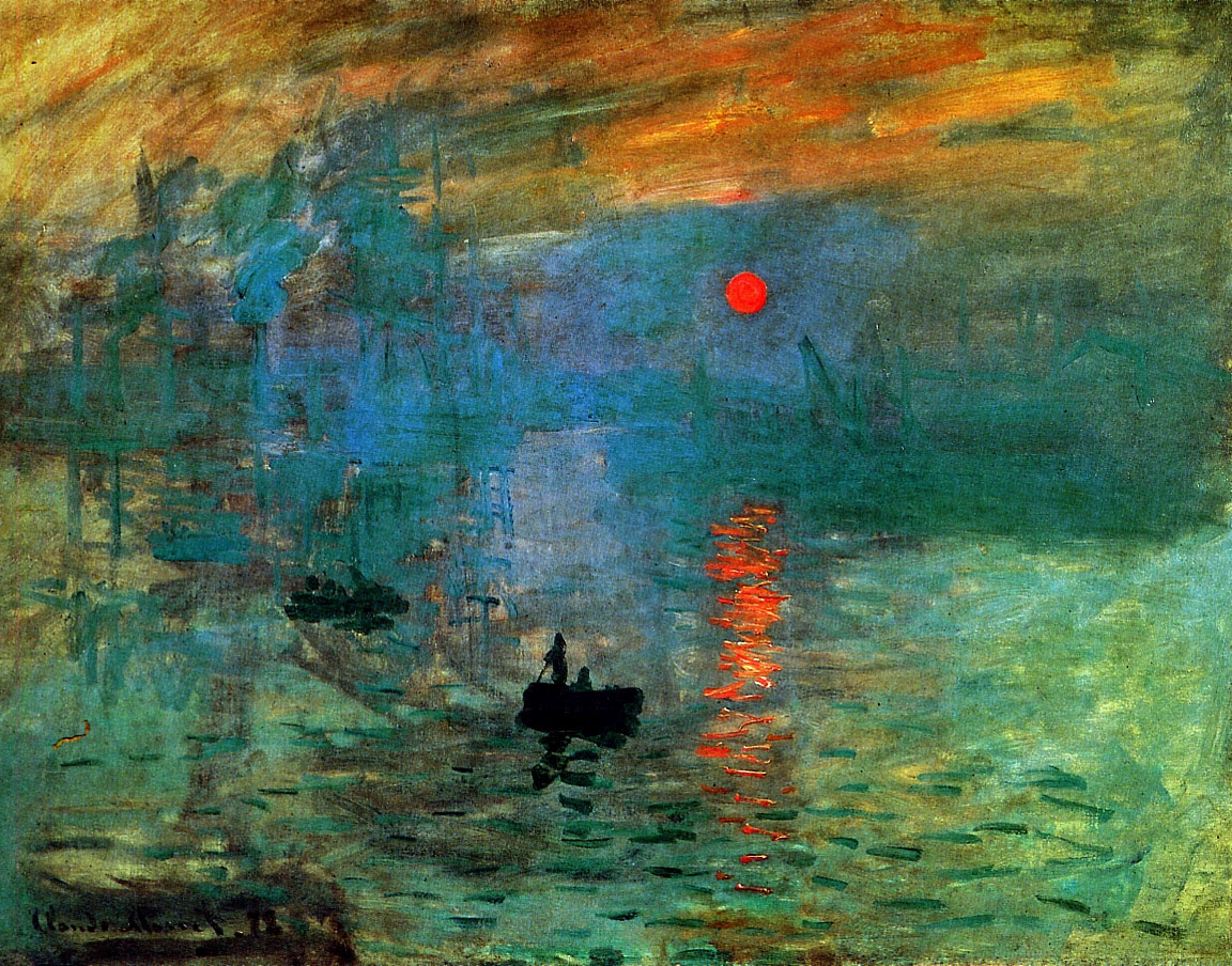 Impressionism Monet Sunrise Like Shooting F...