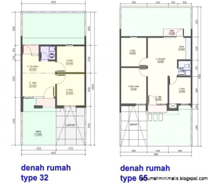gambar denah rumah sederhana design rumah minimalis