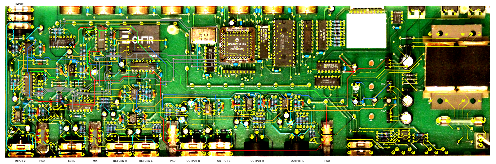 usr/local: TECH 21 SansAmp PSA-1 PCB traces and schematics on pcb motor, pcb assembly, pcb design flow, pcb hardware, pcb flow chart, pcb test, pcb construction,