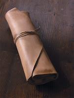 (3)ドラムスティックケース ヌメ革 大・巻くやつ キボリコキボリオ
