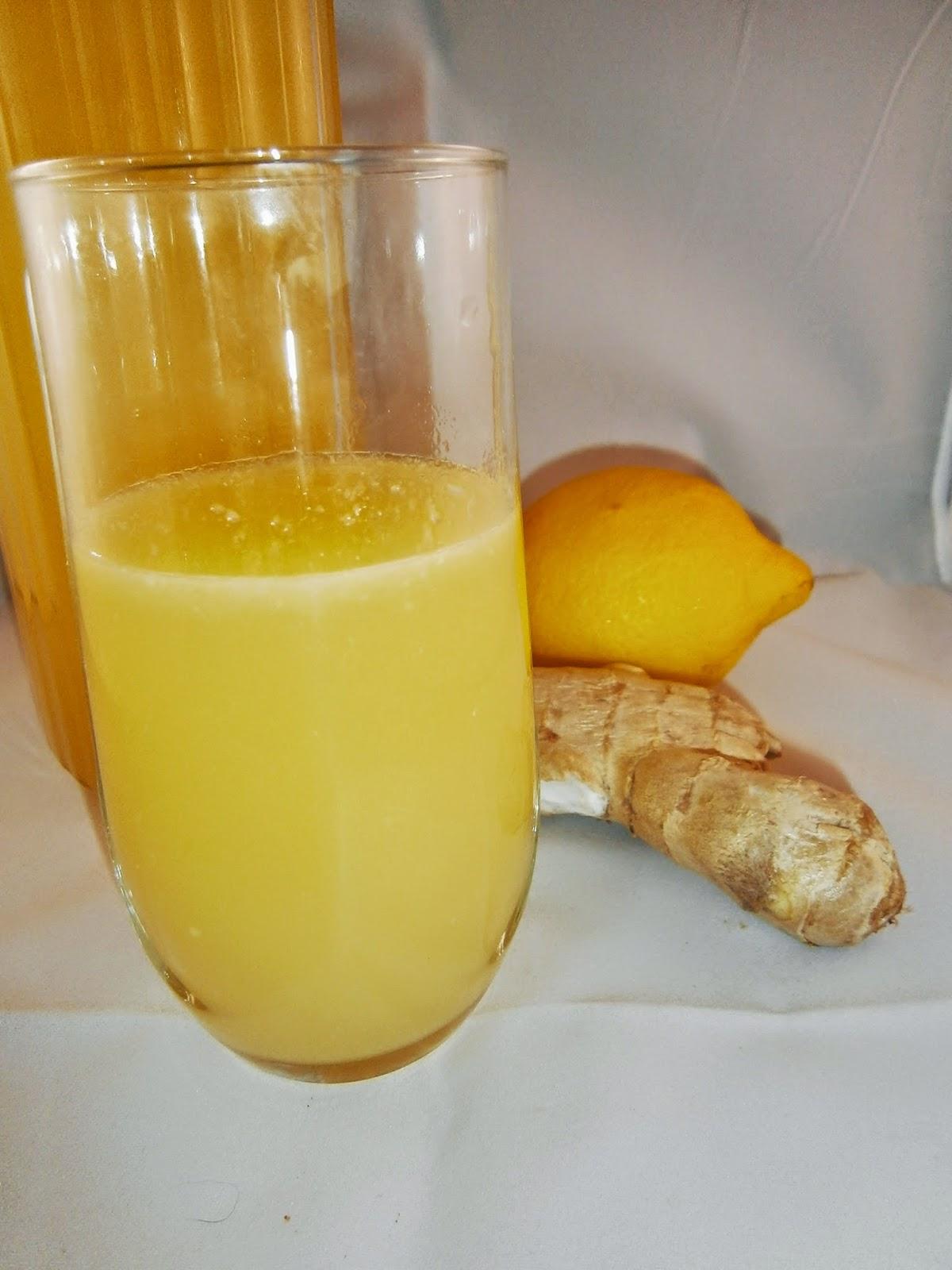 Délices d'une novice: Jus de gingembre, citron et ananas