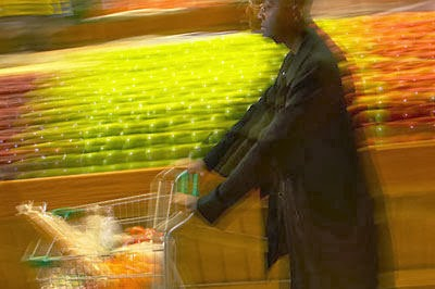 man with shopping trolley