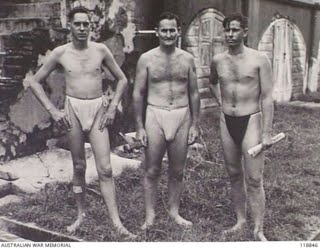 Aussie POW in Jap-nappies