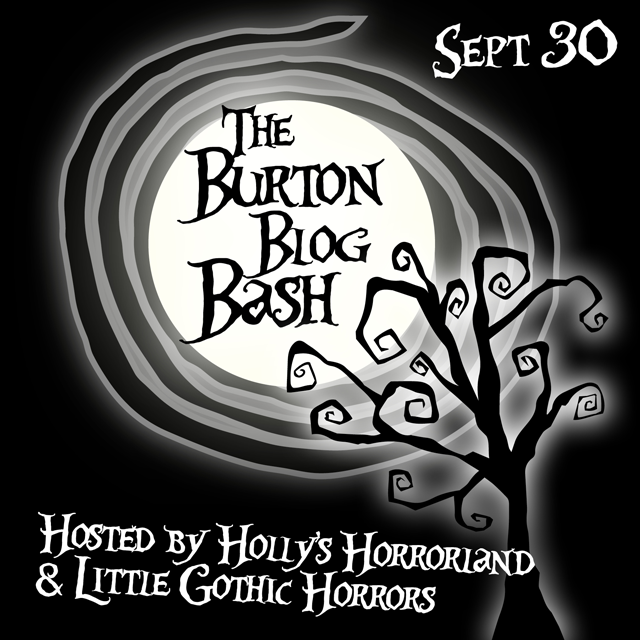 Invite from Emma (Little Gothic Horrors) & Holly (Holly's Horrorland) celebrating all thing Burton!