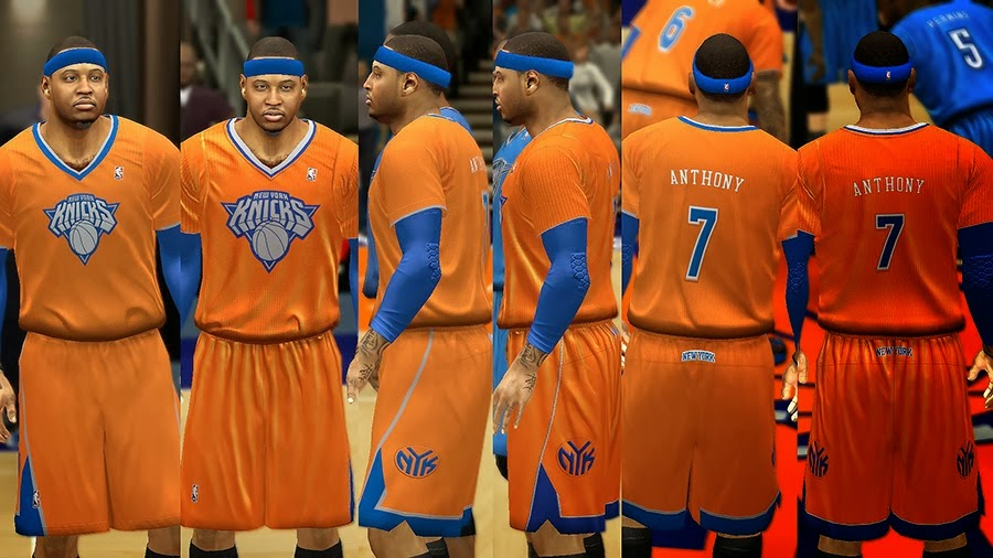 NBA 2K14 Christmas Day Uniform - New York Knicks