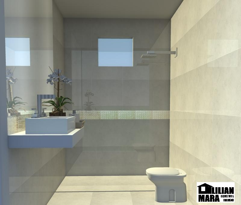 Lilian Mara Arquitetura e Urbanismo Banheiro crema marfil -> Banheiros Com Pastilhas De Porcelanato