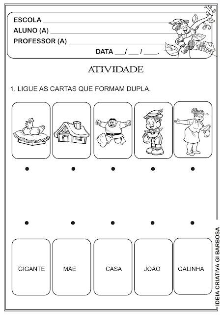 Atividade Contos de Fada  Ficha Didática GEEMPA