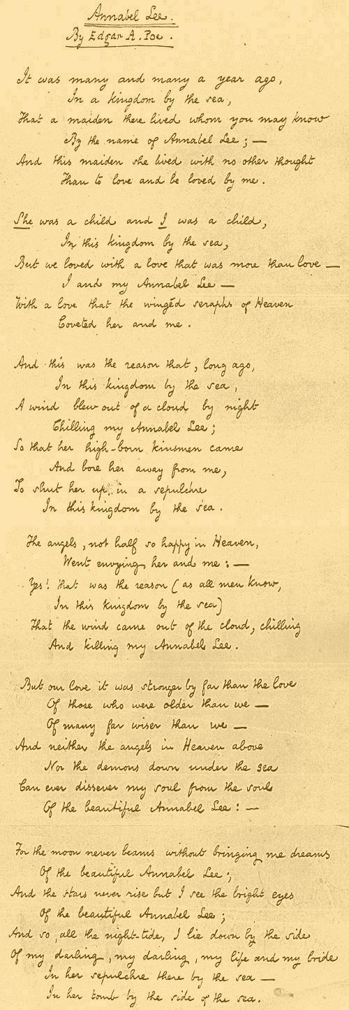 Annabel lee poem