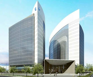 The planned building for the Abu Dhabi Islamic Bank