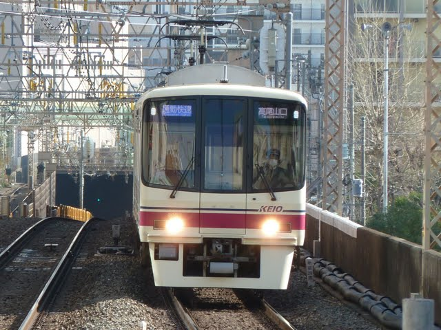 京王電鉄 通勤快速高尾山口行き 8000系(平日2本運行)