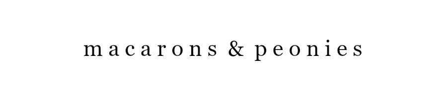macarons & peonies