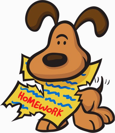 Image result for cartoon dog with homework