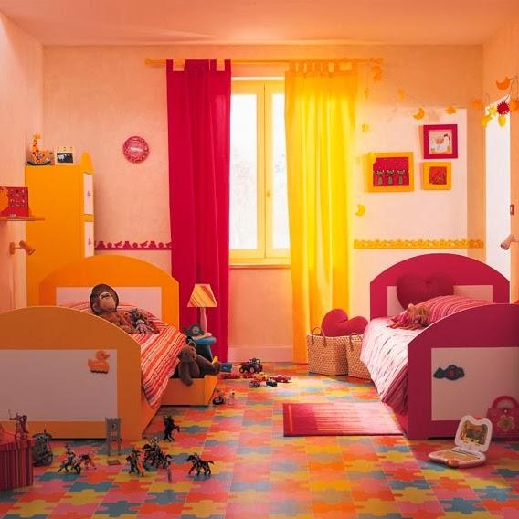 Dormitorio infantil mixto dormitorios compartidos para - Dormitorios infantiles nina ...