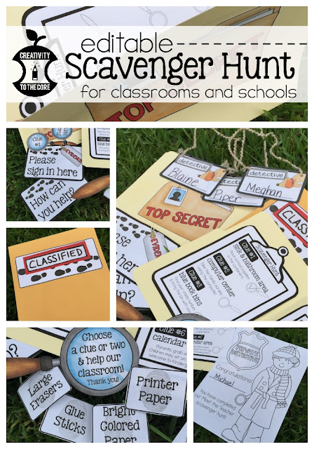 Classroom Scavenger Hunt - Meet the Teacher
