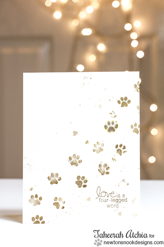 Pawprint card by Taheerah Atchia | Fetching Friendship Stamp set by Newton's Nook Designs