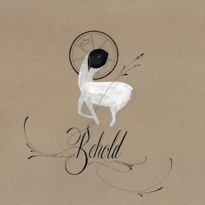 matthew reid art lamb of God illustration calligraphy