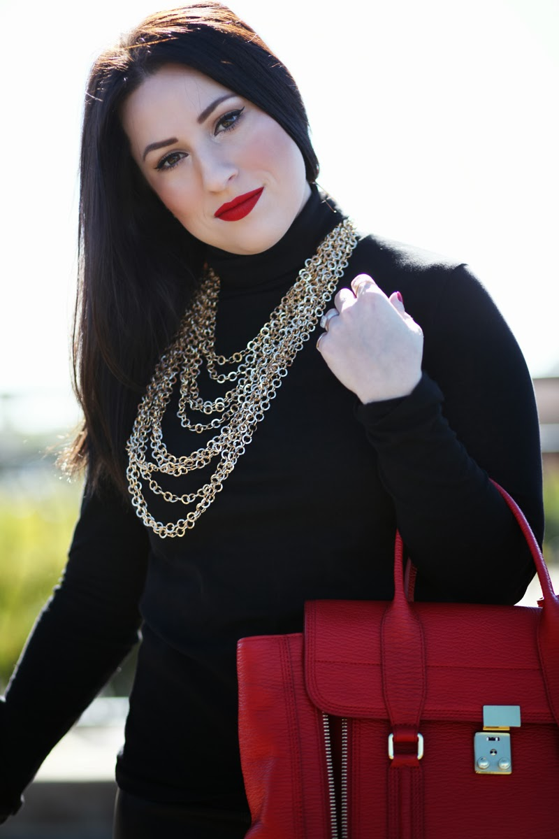 stila-fiery-lipstick-3.1-phillip-lim-jcrew-turtleneck-gold-chains-king-and-kind-blog