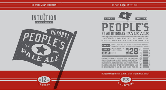 Intuition Ale Works Peoples Pale Ale label