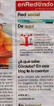 Nos recomiendan en Diario Córdoba