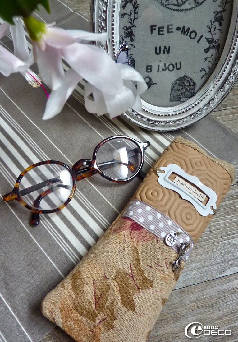 Nathalie's glasses case, a creative page from the magazine of decoration e-magDECO
